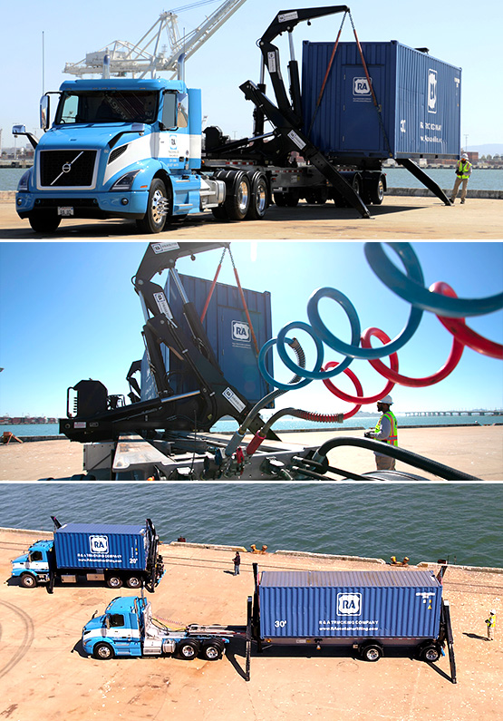 R&A Container Lifting - Side Loading Services